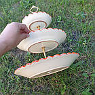 Триярусна фруктовниця/цукерниця Риштан, фото 4