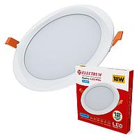 Світлодіодний вбудований світильник круглий (даунлайт) ELECTRUM LEO-M18, 18W 4000K, фото 1