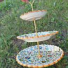 Трехъярусная фруктовница/конфетница Риштан, фото 4