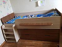 Кровать - чердак с ящиками Непоседа, сп. место 1900х800, фото 1