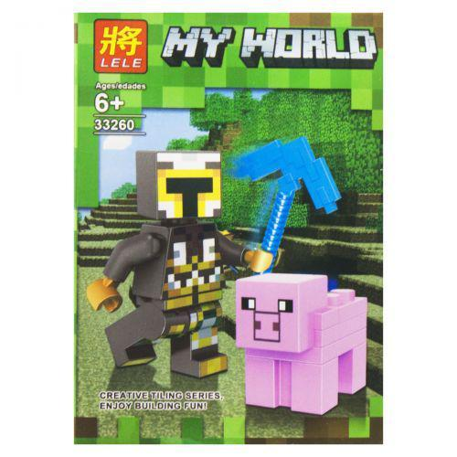 "Конструктор ""My World: Minecraft Свинка"" 6 LELE SM2486 (TC144274)"