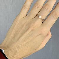 Золотое кольцо с фианитом 585 пробы, вес 1,86г. Б/у. Продажа по Украине, фото 2