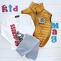 """Детский костюм с жилеткой для мальчика """"Осенние мотивы"""" на 4 года"""