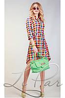 Женское летнее платье в клетку Lipar Цветное 48