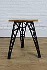 Барный табурет в стиле LOFT из черного металла и натурального дерева, фото 5