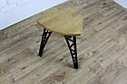 Барный табурет в стиле LOFT из черного металла и натурального дерева, фото 10