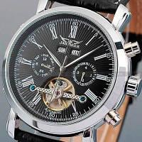 Jaragar Мужские классические механические часы Jaragar Silver Star 1009 с автоподзаводом и датой, фото 1