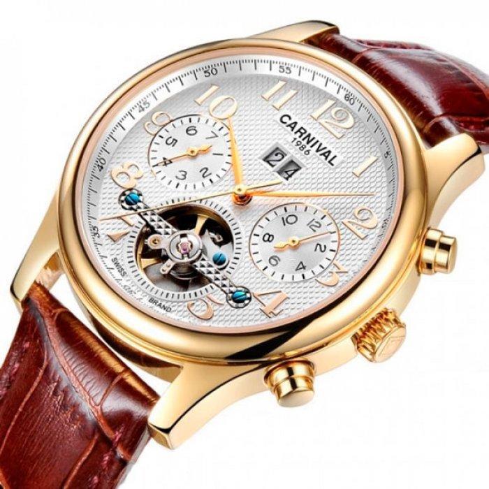 Carnival Мужские часы Carnival Swiss Brown