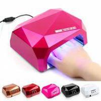 Профессиональная лампа для сушки гель-лаков Beauty nail CCF + LED с таймером