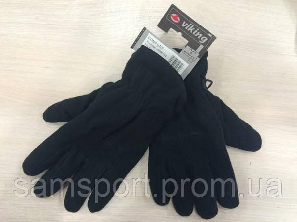 Черные лыжные перчатки фирмы Viking.