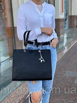 Жіноча шкіряна класична сумка на плече Polina & Eiterou
