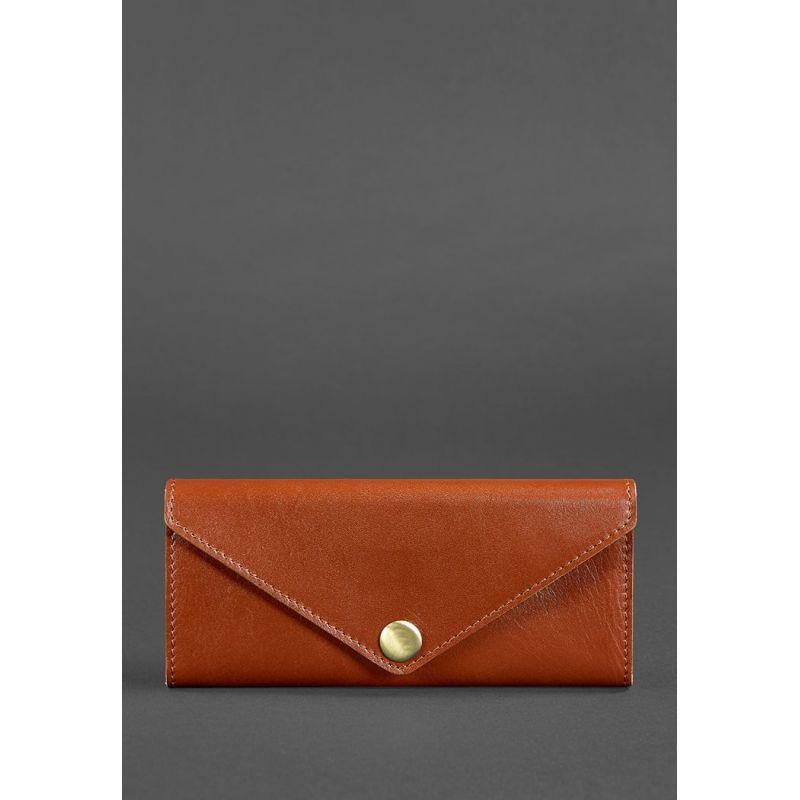 Женский кожаный кошелек Керри 1.0 светло-коричневый