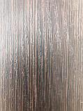 Широкий МДФ плинтус напольный структурный под дерево Венге 19*52*2800мм., темно коричневый цвет, фото 3