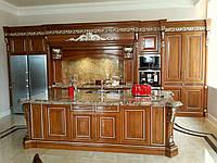Элитная кухня - фанера, массив ясеня, резьба