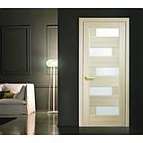 Двери межкомнатные Пиана ясень 60 п/о чёрное стекло, фото 2