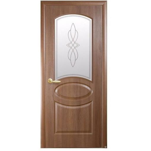 Двери межкомнатные Фортис овал золотая ольха 60 П/О