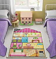 Ковер в детскую комнату Confetti - Play House розовый 100х160