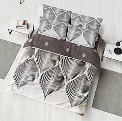Двуспальный комплект 177х217 «Нежный лист» из сатина