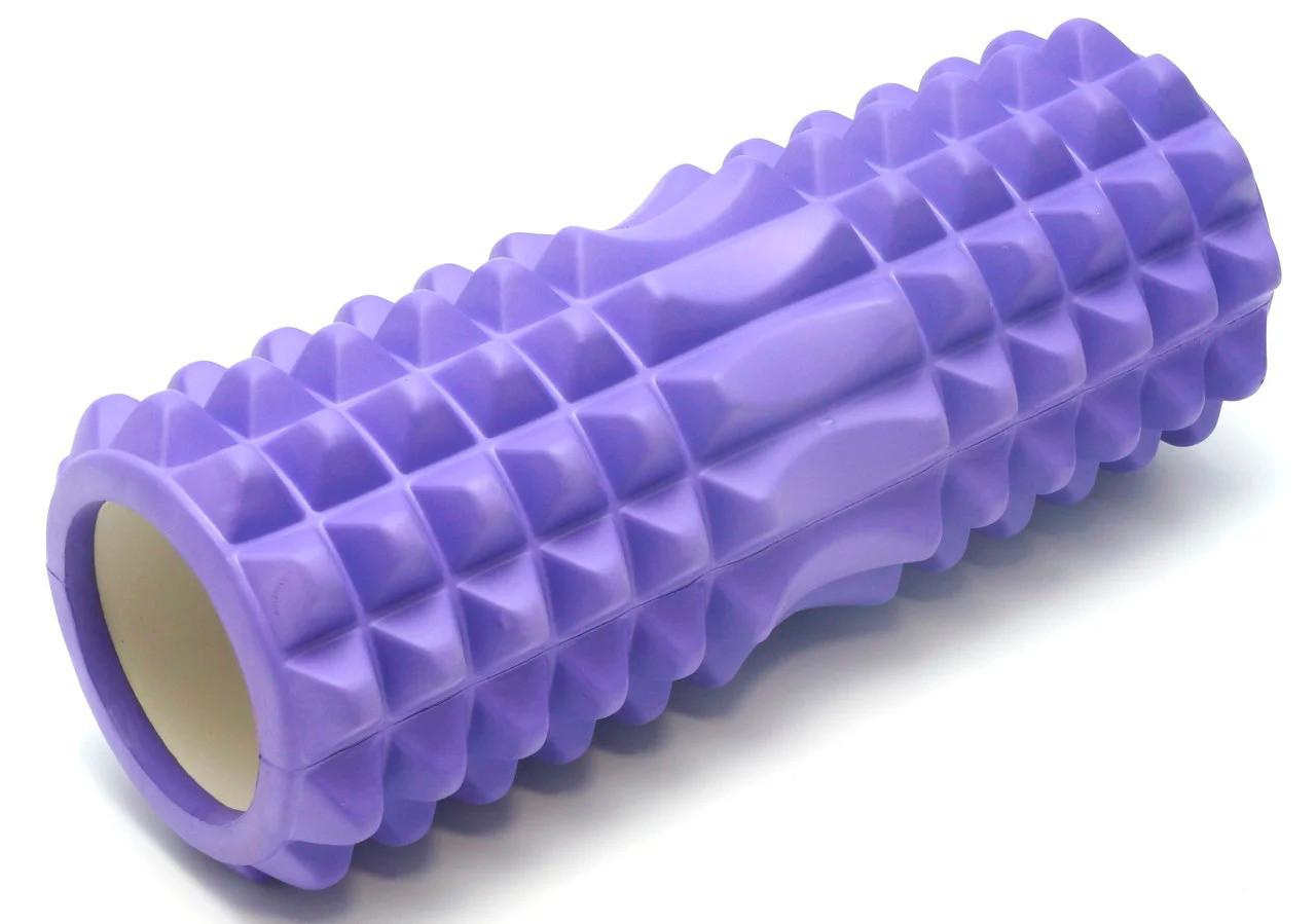 Роллер для массажа спины и прокатки мышц Фиолетовый с маленькими секциями, массажный ролик (NS)