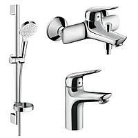 Набор смесителей для ванны, умывальник 100 (71030000+71040000+26553400)Hansgrohe Novus