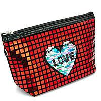 Косметичка - сумочка з сердечком Червоний