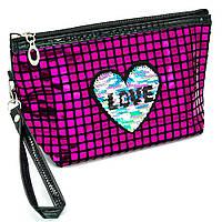 Косметичка - сумочка з сердечком Малиновий