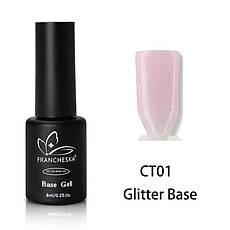 Каучуковая база с шиммером Glitter Base Gel Francheska 01, 8ml