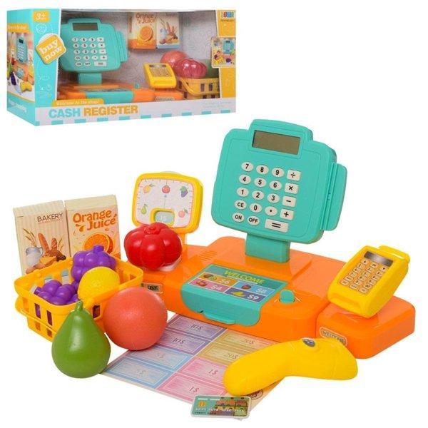 Детский игровой комплект Кассовый аппарат- магазин с продуктами