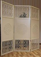 Ширма 3-х секционная «Стамбул», слоновая кость