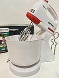 Миксер кухонный с чашкой на 2 л Rainberg 500W на 7 скоростей универсальний, фото 2