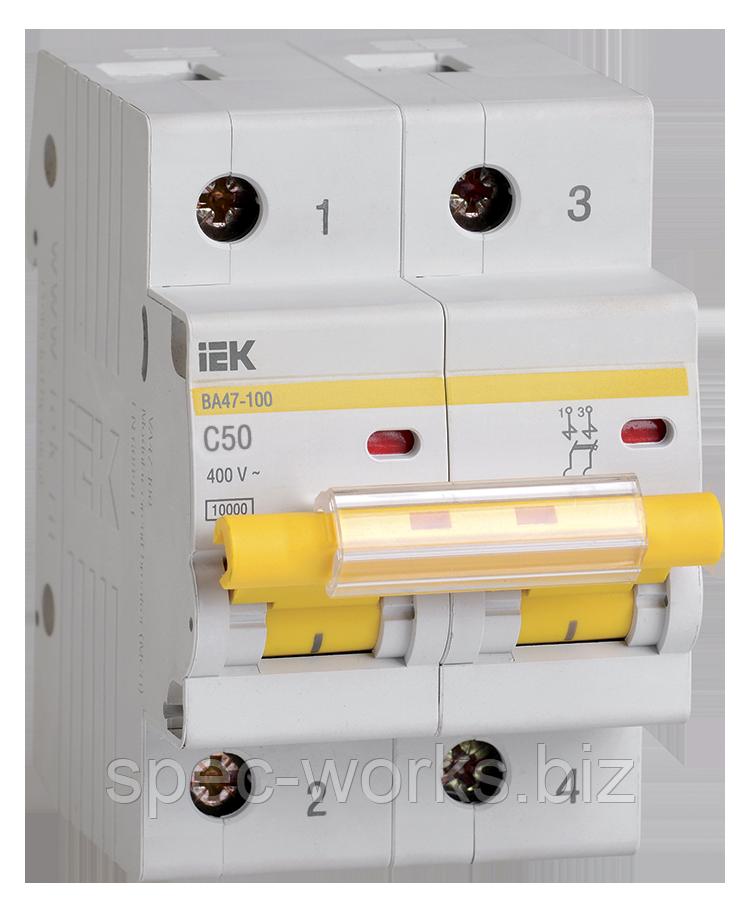 Выключатель автоматический ВА47-100 2Р 50А 10кА С IEK