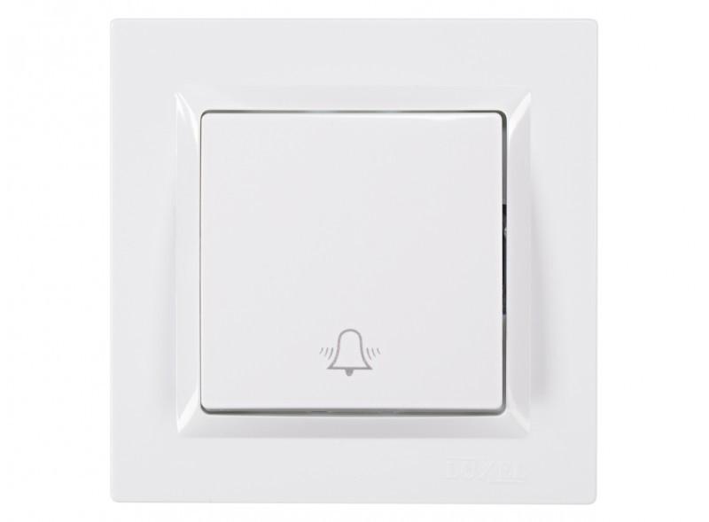 Кнопка звонка Luxel JAZZ (9017) белая