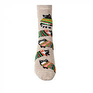 Детские носки с рисунком кота в свитере VT Socks Св.бежевый меланж, размер 22-24, фото 2