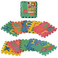 Коврик пазлы для детей алфавит и цифры 10 элементов.