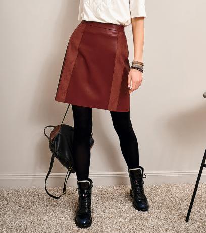 Женская юбка с эко-кожи от Noche Mio, MULA 2.248