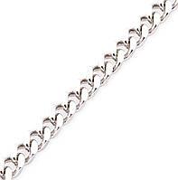 Серебряная цепочка ПАНЦИРЬ 6 мм размер 65 см, фото 1
