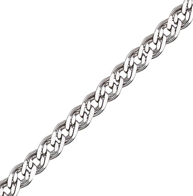 Серебряная цепочка НОННА, МОНА ЛИЗА 4 мм, 50 см