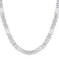 Серебряная цепочка ЕВРО ВЕРСАЧЕ родированная 65 см, фото 1