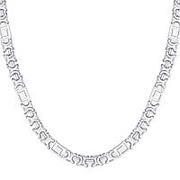 Серебряная цепочка ЕВРО ВЕРСАЧЕ родированная 60 см, фото 1