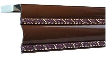 Карниз алюминиевый БР - 11 Беж, Шоколад (2.5 м)
