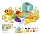 Детский игровой комплект Кассовый аппарат- магазин с продуктами, фото 2