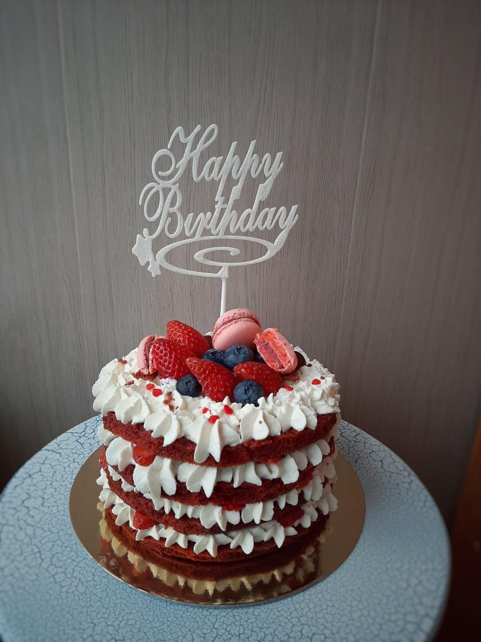 Топперы Happy Birthday 14 цветов, Топперы с блестками, Happy Birthday в торт и букет цветов ОПТ