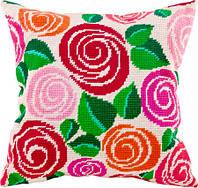 Набор для вышивки подушки. Декоративные розы.
