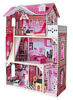 Кукольный домик игровой для Барби AVKO Вилла Барселона, лифт, кукла + Led подсветка