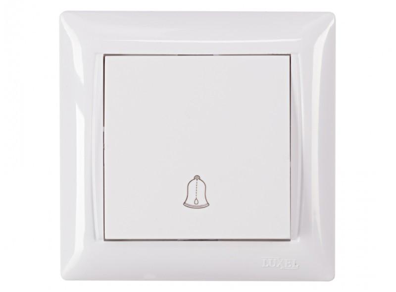 Кнопка звонка Luxel PRIMERA (3017) белая