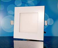 Светильник светодиодный Biom PL-S6 WW 6Вт квадратный теплый белый, фото 1