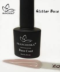 Каучуковая база с шиммером Glitter Base Gel Francheska 07, 8ml