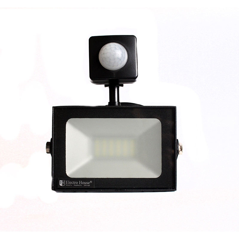Светодиодный прожектор ElectroHouse 10W 900Лм 6500К IP65 с датчиком движения (EH-LP-211)
