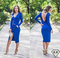 Платье модного фасона с вырезом на спине 4 цвета