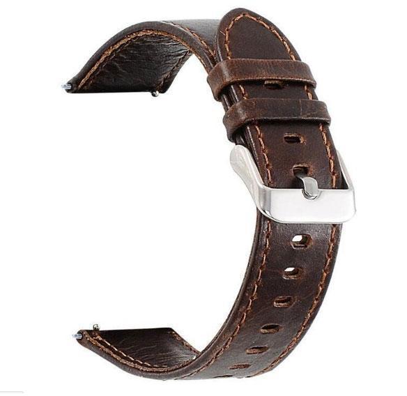 Кожаный ремешок для часов Samsung Galaxy Watch 3 45mm (SM-R840) - Dark Brown